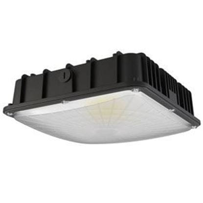 Picture of LED Indoor Outdoor Canopy/Ceiling Light 60W 5000K BLK 120-277V Light Commercial 5yr